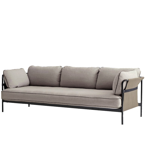 CAN Sofa 3 seater  Black Frame/Army Canvas/SUR#420  (808251 9279419) 전화 문의