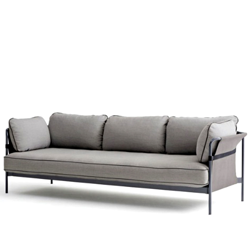 CAN Sofa 3 seater  Black Frame/Grey Canvas/Grey Canvas  (808291 1001003) 전화 문의