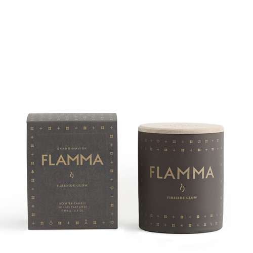 Flamma (roaring fire) 190gr Scented Candle w/Lid (1118)