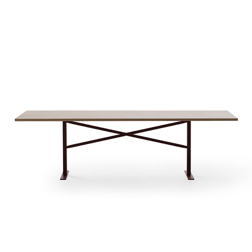 Ferric Table 210 * 100  Natural Oak / Wine Red 주문 후 3개월 소요