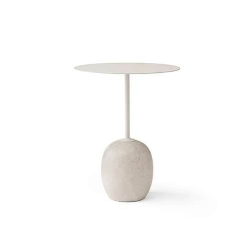 Lato Table LN8 Ø40  Ivory White Top / Light Marble Base 2월 말 입고 예정