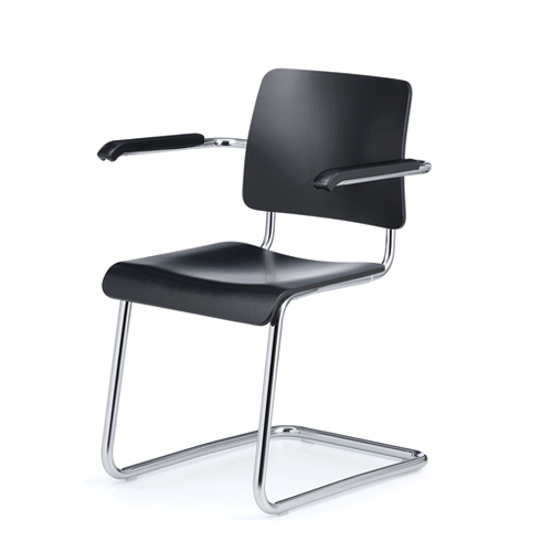 Weimar 5112 ChairBlack stained Beech/Chrome Frame (0451) 6월 중순 입고예정