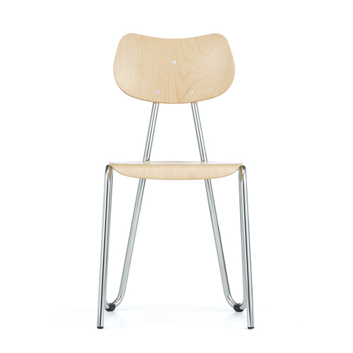 Arno 417 ChairNatural Beech / Chrome (0627151)11월 말 입고 예정