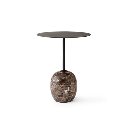 Lato Table LN8 Ø40 x 50 cm Warm Black top/Emparador Marble base 6월 중순 입고 예정