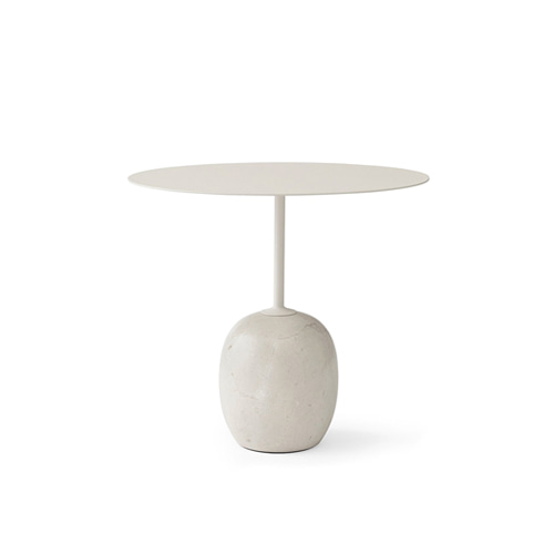 Lato Table LN9 Ø50 x 45cm Oval Ivory White top/Light Marble base 주문 후 3개월 소요
