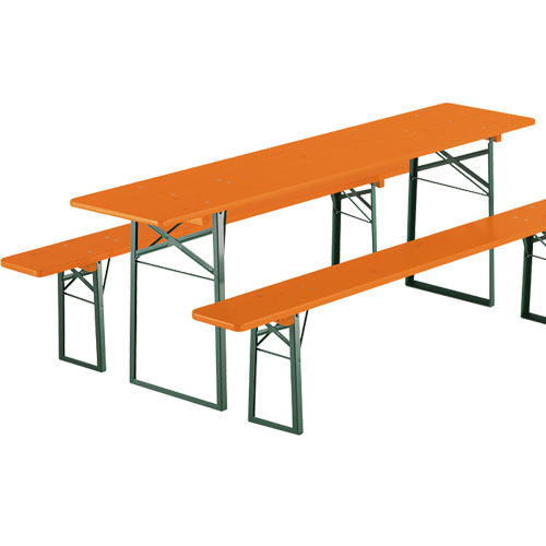 Folding Table&Bench Set Classic Orange/Green Frame6월 말 입고 예정