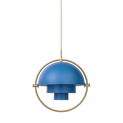 Multi-Lite Pendant  blue / brass base주문 후 4개월 소요