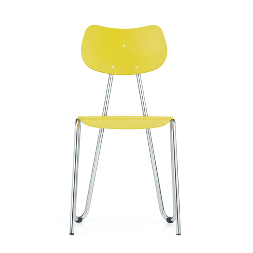 Arno 417 ChairYellow Stained Beech/Chrome Frame (0417) 11월 말 입고 예정