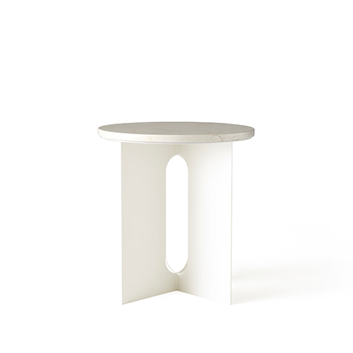 Androgyne Side Table (1180649) White Marble/Ivory Steel base 주문 후 4개월 소요