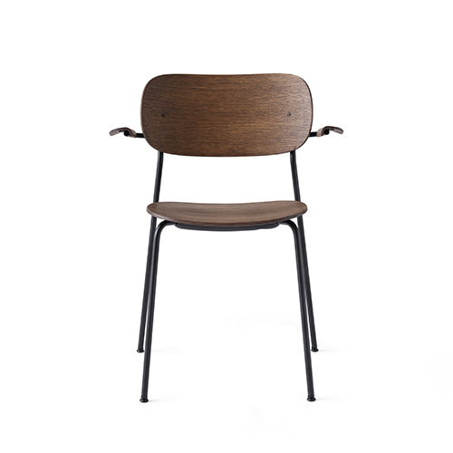 Co Dining Chair w/Arms 1165849 Dark Stained Oak/Black Steel