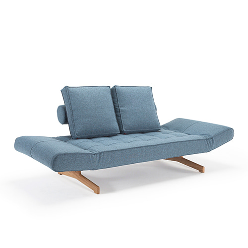 Ghia Sofa Bed (743020525)  #525 Light blue/ Wood3월 말 입고 예정