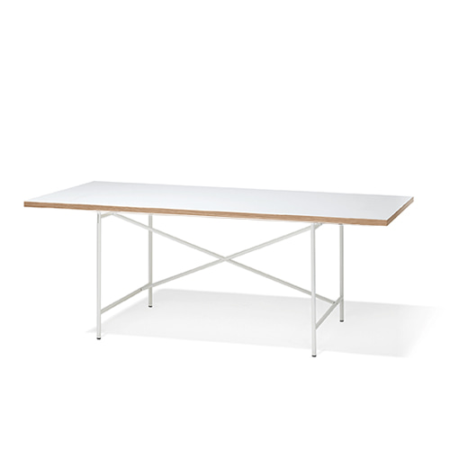 Eiermann 1 Table 200*90Melamine white/ Oak edge
