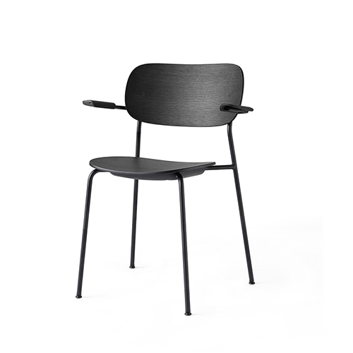 Co Dining Chair w/Arms 1166539 Black Oak/Black Steel주문 후 4개월 소요