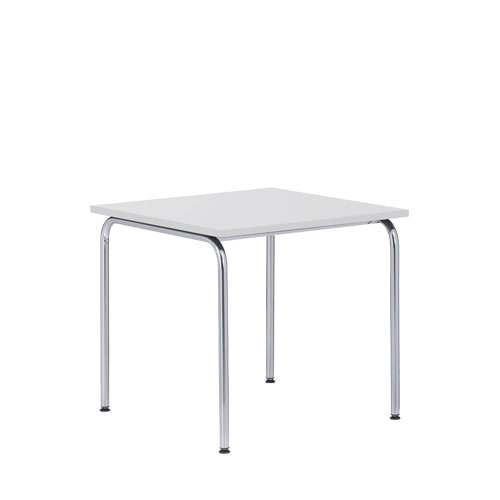 Akiro 426 Table W600 Melamine White Top top/Chrome Frame(0426) 7월 중순 입고 예정