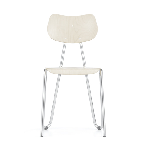 Arno 417 ChairWhite Stained Beech/Chrome Frame (0417)