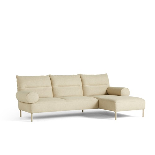 Pandarine 3 Seater Cylindrical Armrest Chaise Longue Right  판다린 3인 소파Linara#216 LN/Chromed Legs (940619 6252697)5월 초 입고예정