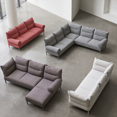 Pandarine 3 Seater Recl.&Cylindrical Armrest Chaise Longue Right 판다린 3인 소파Remix#773/Chromed Legs (940679 1301910)5월 초 입고예정