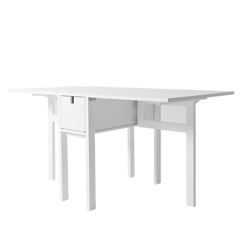 #Wing drop leaf table, white(1086-0100)